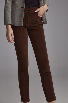 Pedro del Hierro Velvet skinny jeans Brown
