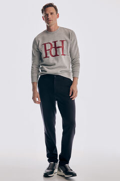 Pedro del Hierro Slim fit coordinated jersey-knit chinos with blazer Blue
