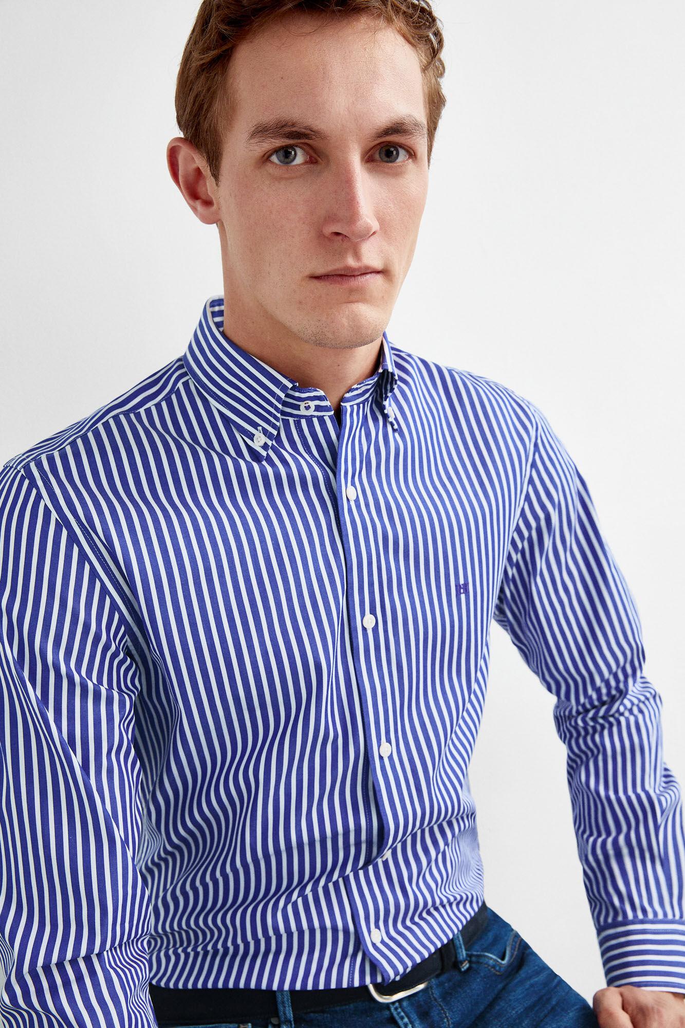 968ef199306de0 Striped shirt with button down collar | Shirts | Pedro del Hierro ...