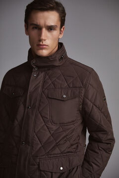 Pedro del Hierro Quilted jacket with removable lining Brown