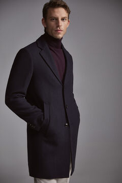 Pedro del Hierro Plain coat Blue