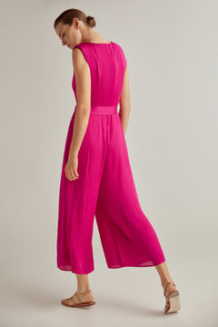 Pedro del Hierro Fluid jumpsuit set with leather sandals and embroidered bag