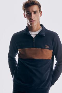 Pedro del Hierro Turtleneck sweatshirt Blue