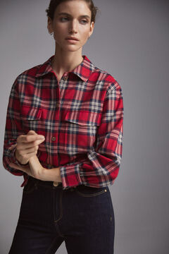 Pedro del Hierro Checked over garment Red