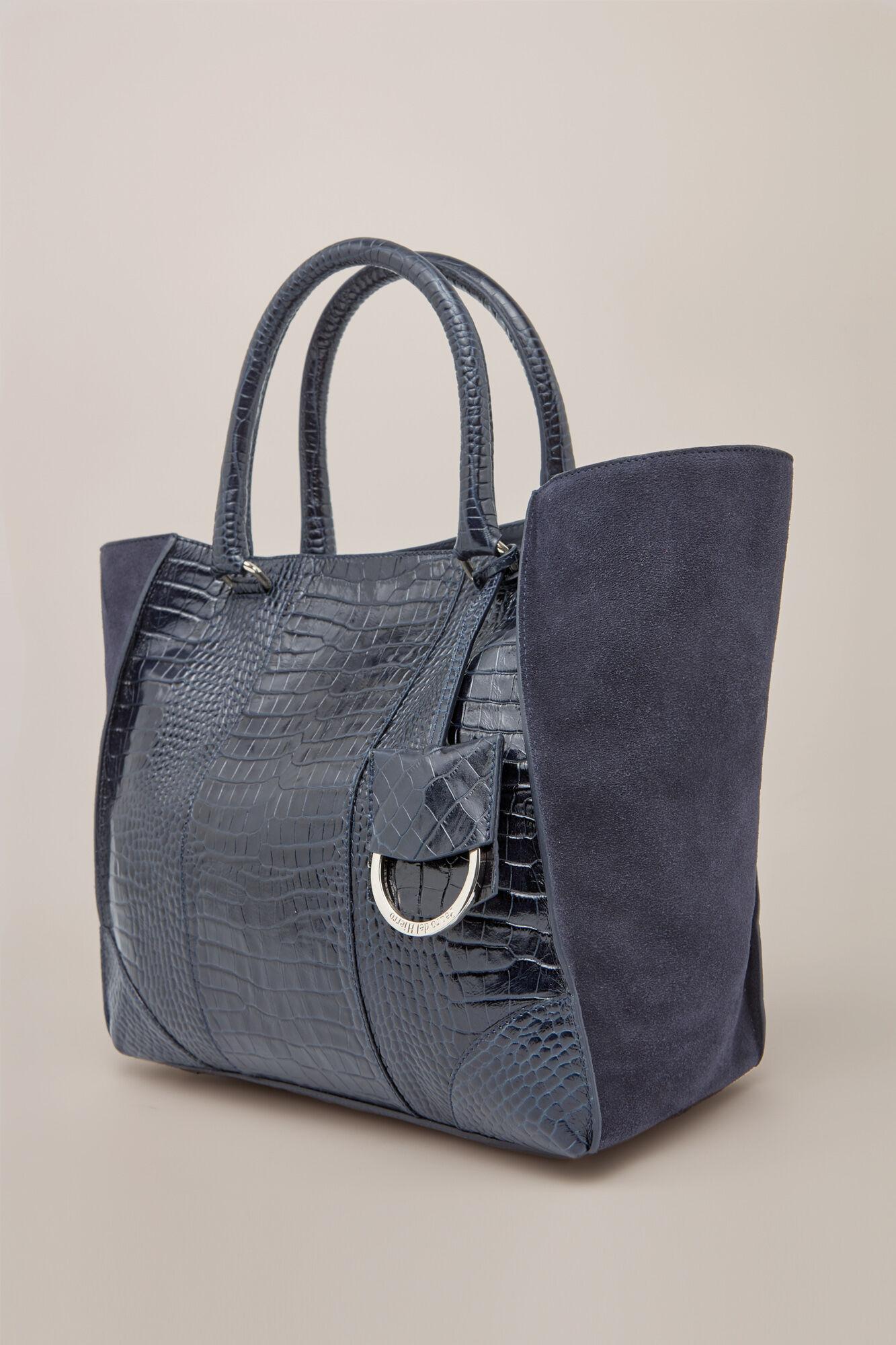 37044f13a8d Crocodile effect leather shopper bag