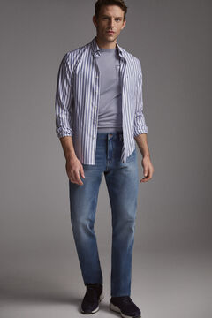 Pedro del Hierro Jeans premium flex classic lavagem média Azul