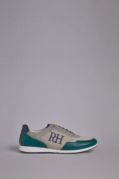 Pedro del Hierro Leather rubber-soled sneakers Green