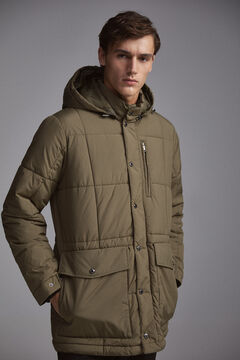 Pedro del Hierro Quilted parka with hood Green