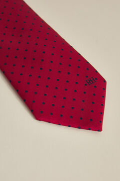 Pedro del Hierro Double bladed polka-dot tie Red