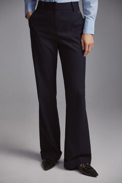 Pedro del Hierro Straight trousers with buttons Blue