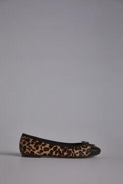 Pedro del Hierro Bailarina con estampado Leopardo Beige