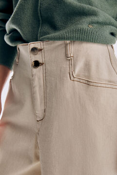 Pedro del Hierro Straight fit wide leg jeans Brown
