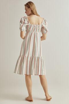 Pedro del Hierro Multicoloured striped linen dress Several