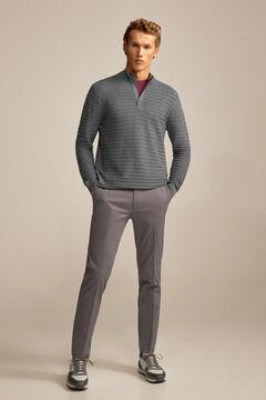 Pedro del Hierro Regular fit formal chinos Grey