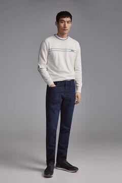 Pedro del Hierro Denim trousers Premium Flex Regular wash removed Blue