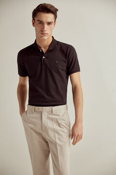 Pedro del Hierro Short-sleeved polo shirt with PdH logo Black