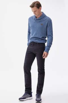 Pedro del Hierro Slim fit coloured micro print 5-pocket trousers Blue