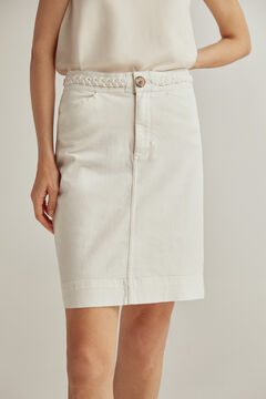 Pedro del Hierro Coloured denim skirt Ecru
