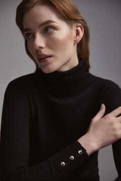Pedro del Hierro Essential turtleneck jumper Black