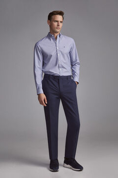 Pedro del Hierro Premium Flex Slim Micro Drawing Chinese Pants Blue