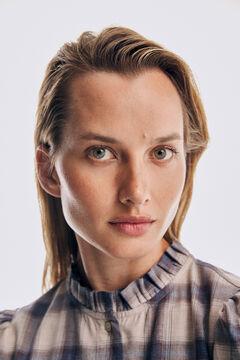 Pedro del Hierro Checked fabric blouse Beige