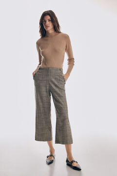 Pedro del Hierro Straight fit cropped pleated trousers Several