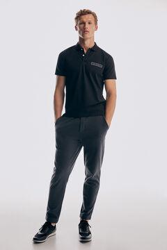 Pedro del Hierro Short-sleeved logo polo shirt Black