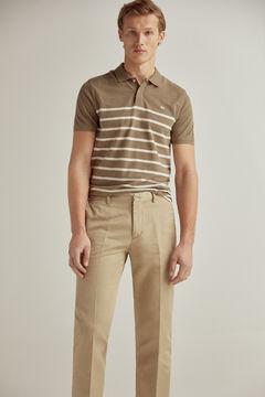 Pedro del Hierro Regular fit textured linen trouser separates Beige