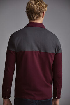 Pedro del Hierro Long-sleeved polo shirt Red
