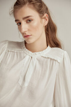 Pedro del Hierro Elasticated details blouse Beige