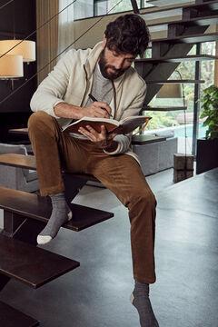 Pedro del Hierro Pantalón chino pana premium flex regular Brown