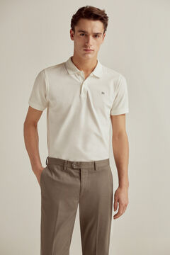 Pedro del Hierro Short-sleeved polo shirt with PdH logo White
