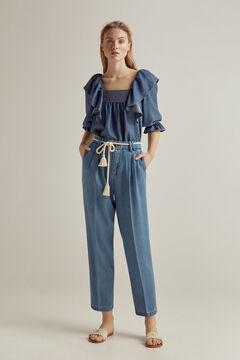 Pedro del Hierro 100% Tencel® denim blouse Blue