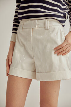 Pedro del Hierro Jacquard shorts Beige