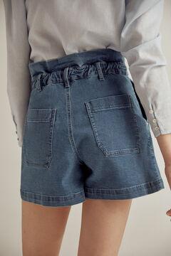 Pedro del Hierro Dry Indigo® denim paperbag shorts Blue