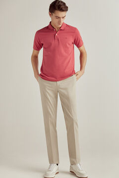Pedro del Hierro Short-sleeved polo shirt with PdH logo Red