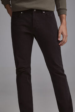 Pedro del Hierro Coloured slim fit 5-pocket premium flex jeans  Black
