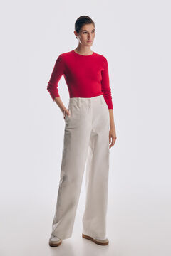 Pedro del Hierro Essential ribbed jumper Red