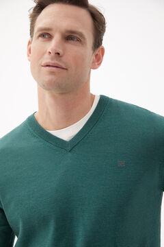 Pedro del Hierro Merino V-neck jumper Green