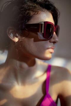 Pedro del Hierro Maroon maxi sunglasses Red
