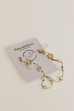 Pedro del Hierro Face mask necklace White