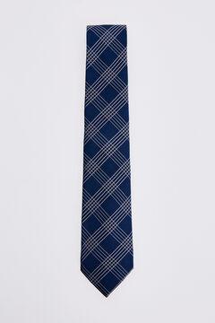 Pedro del Hierro Checked tie Blue