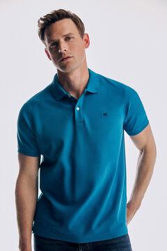 Pedro del Hierro Basic short sleeve polo shirt Burgundy