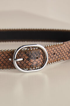 Pedro del Hierro Leather belt Beige
