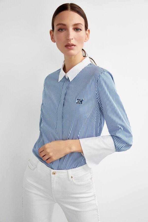 d3ecd69da27 Pedro del Hierro Camisa logotipo bordado Azul