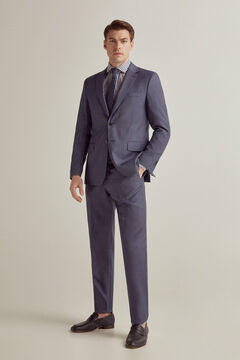 Pedro del Hierro Tailored fit birdseye blazer Blue