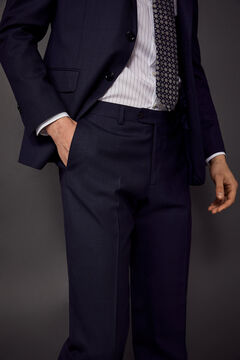 Pedro del Hierro Pantalón traje tailored fit Azul