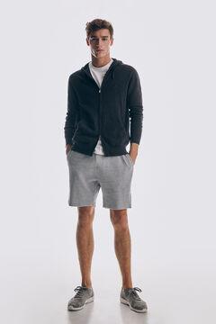 Pedro del Hierro Zip-up hooded cardigan  Grey