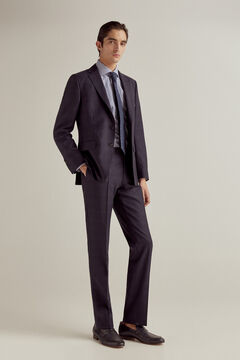 Pedro del Hierro Navy checked tailored fit trousers Blue