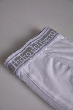 Pedro del Hierro Boxers lisos malha Branco